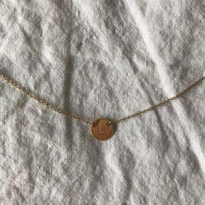 Nashelle initial necklace letter L